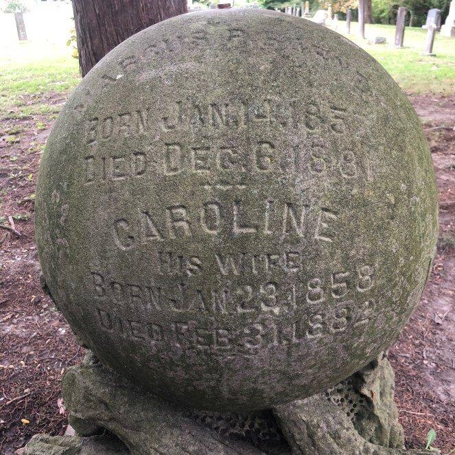 Caroline's grave