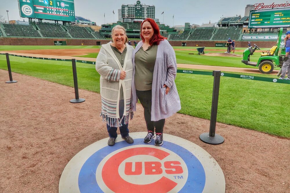 Mom and me at Wrigley Field