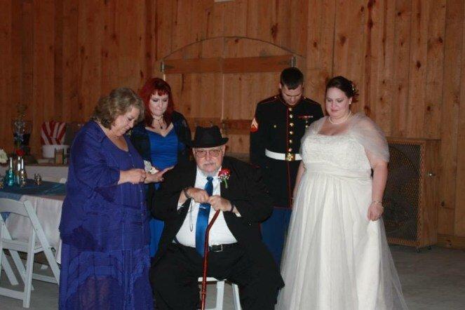 Praying on our wedding Day