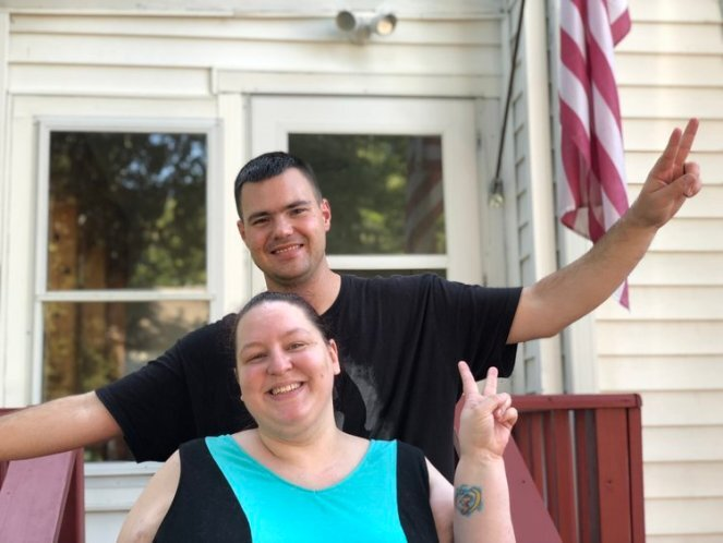 Jeremy and Me at the new house