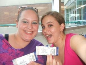 Me and Nellie at the BSB NKOTB concert